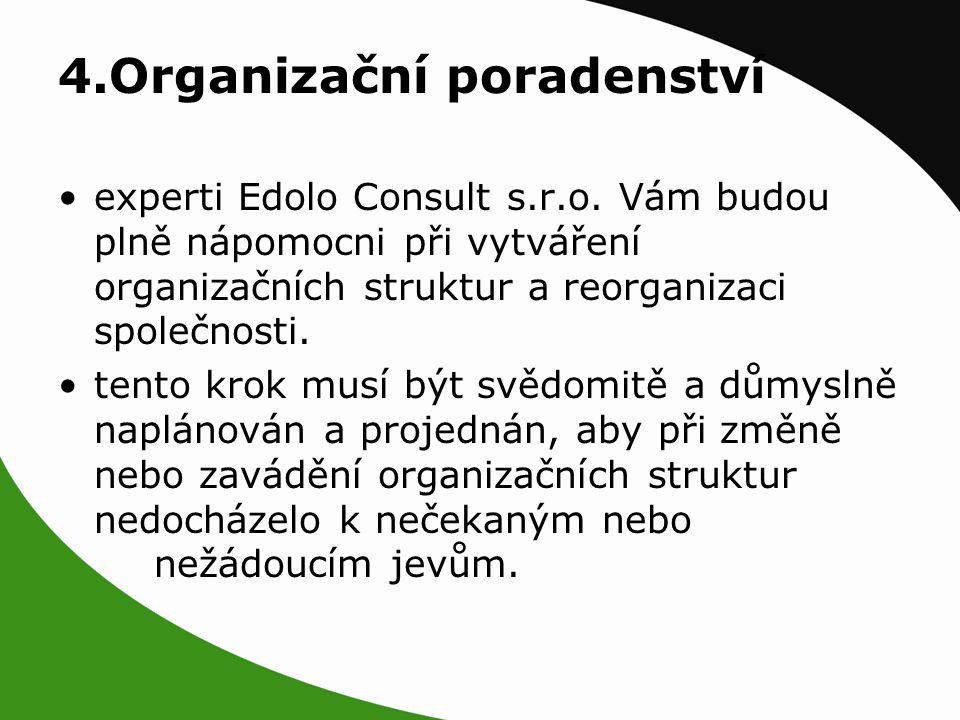 4.Organizační poradenství experti Edolo Consult s.r.o.