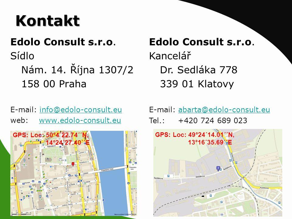 Kontakt Edolo Consult s.r.o. Sídlo Nám. 14.