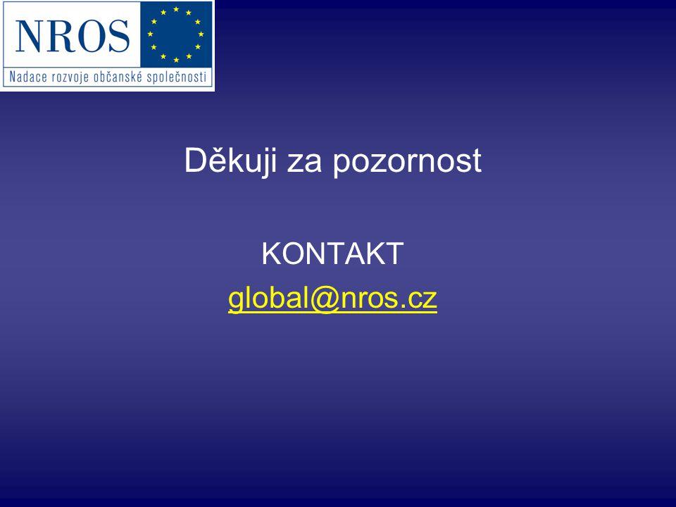 Děkuji za pozornost KONTAKT global@nros.cz