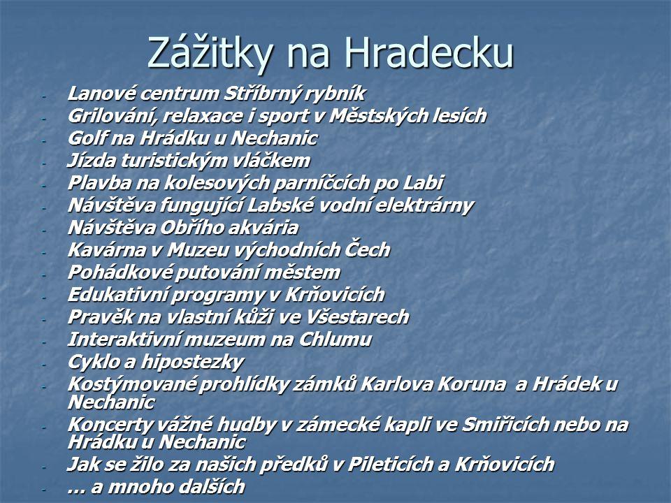 Zážitky na Hradecku - Lanové centrum Stříbrný rybník - Grilování, relaxace i sport v Městských lesích - Golf na Hrádku u Nechanic - Jízda turistickým