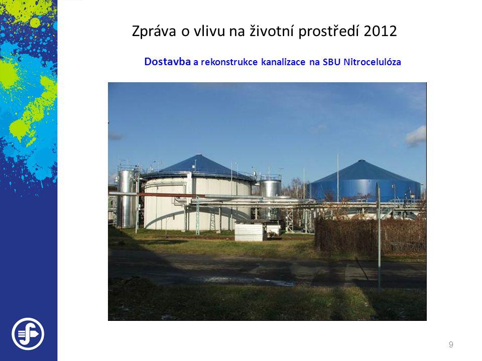Zpráva o vlivu na životní prostředí 2012 Dostavba a rekonstrukce kanalizace na SBU Nitrocelulóza 9