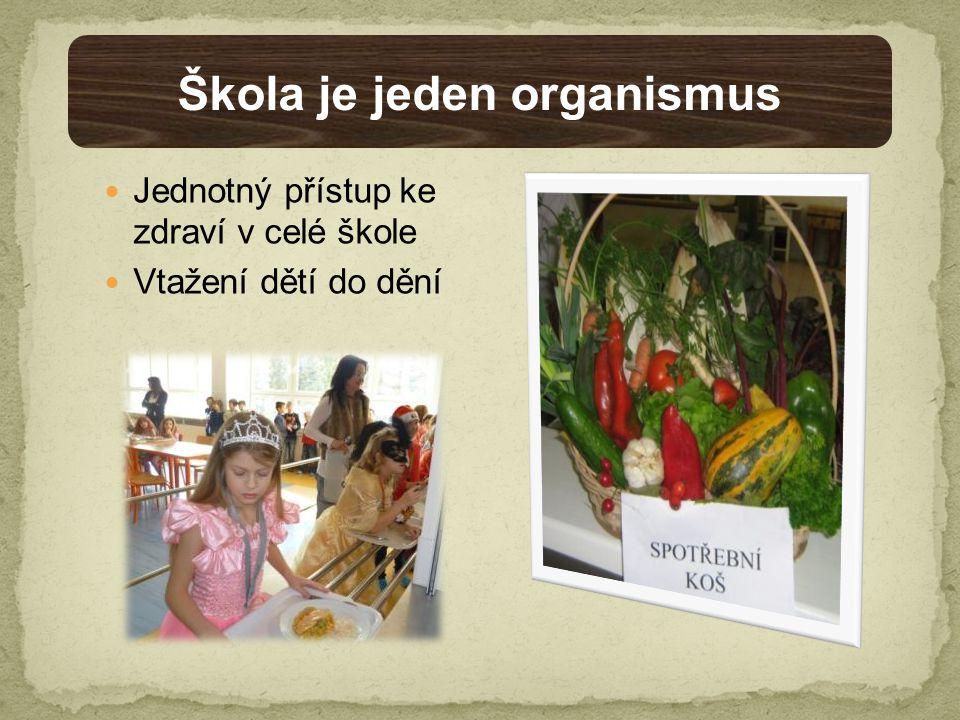 Jednotný přístup ke zdraví v celé škole Vtažení dětí do dění Škola je jeden organismus