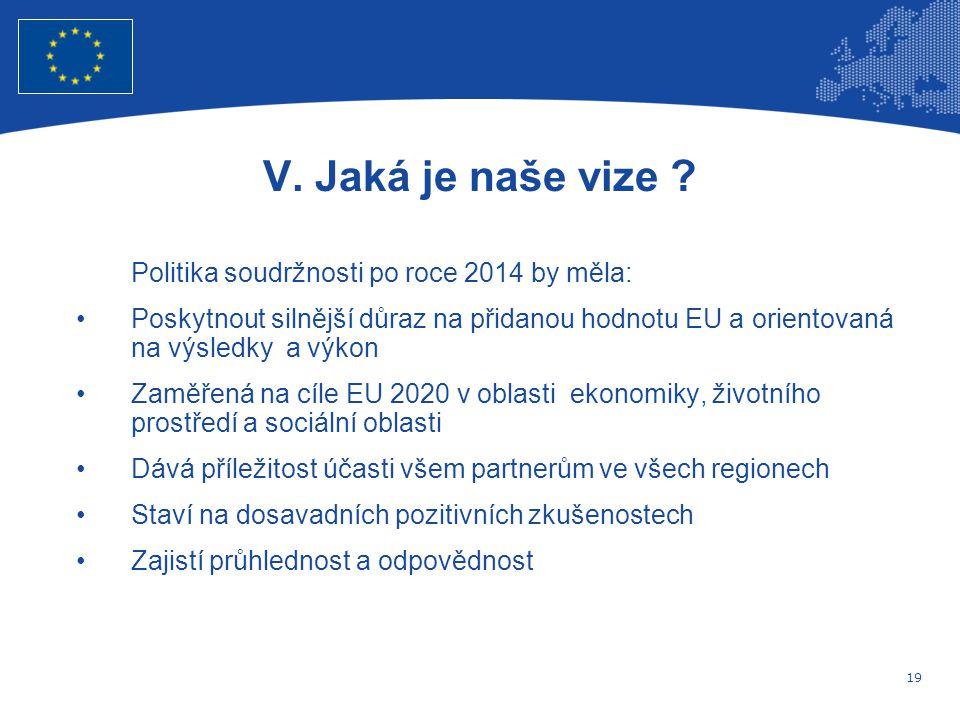 19 Evropská unie Regionální politika – zaměstnanost, sociální věci a sociální začleňování V.