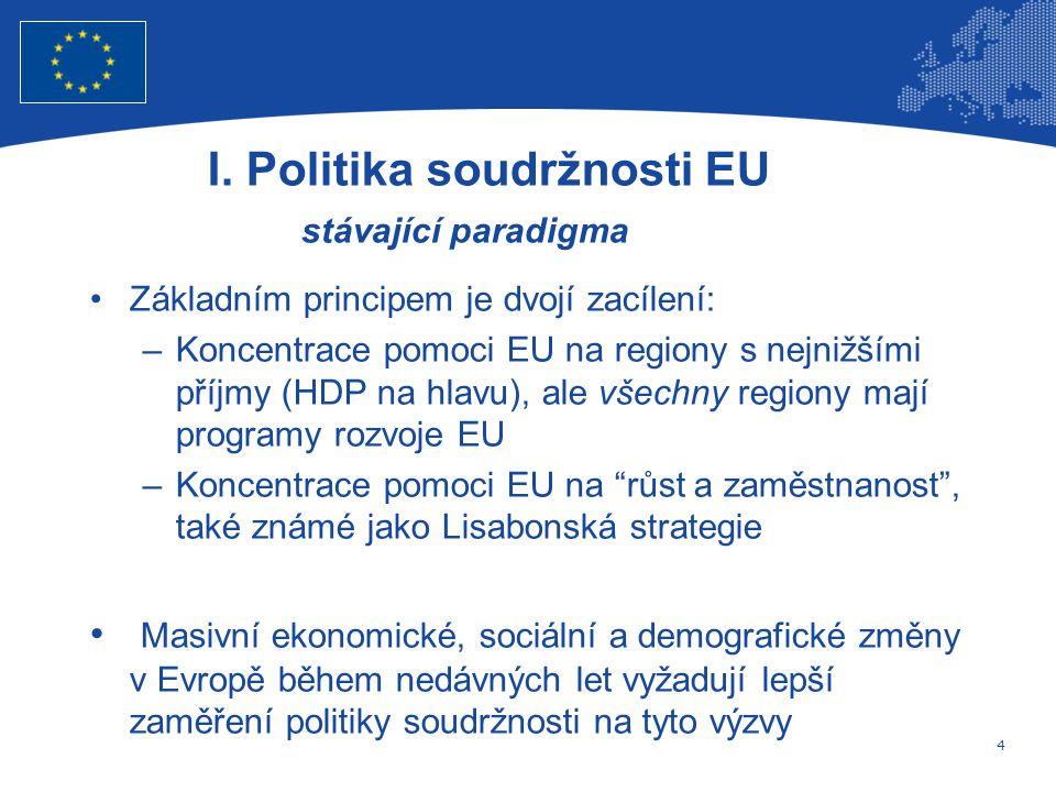 4 Evropská unie Regionální politika – zaměstnanost, sociální věci a sociální začleňování I.