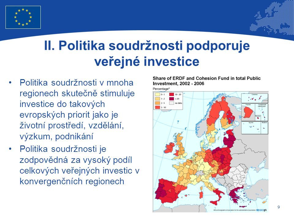 9 Evropská unie Regionální politika – zaměstnanost, sociální věci a sociální začleňování II.