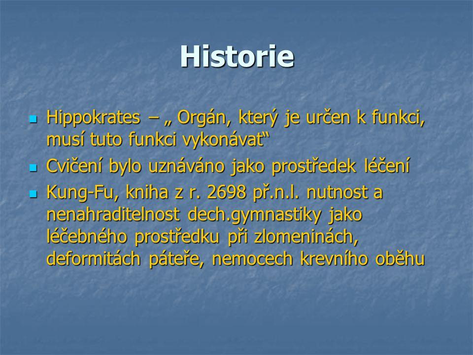 """Historie Hippokrates – """" Orgán, který je určen k funkci, musí tuto funkci vykonávat"""" Hippokrates – """" Orgán, který je určen k funkci, musí tuto funkci"""