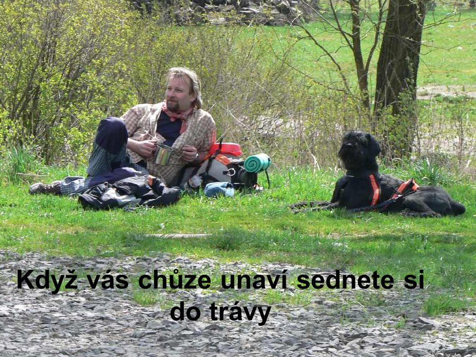 Když vás chůze unaví sednete si do trávy