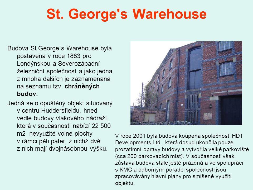 St. George's Warehouse Budova St George´s Warehouse byla postavena v roce 1883 pro Londýnskou a Severozápadní železniční společnost a jako jedna z mno