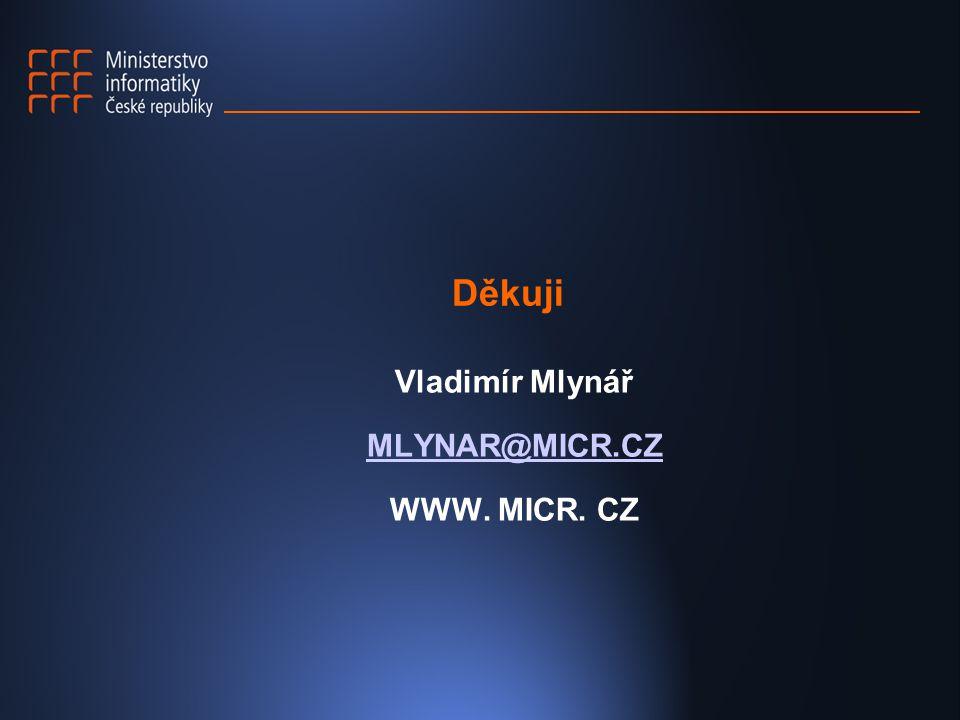 Děkuji Vladimír Mlynář MLYNAR@MICR.CZ WWW. MICR. CZ