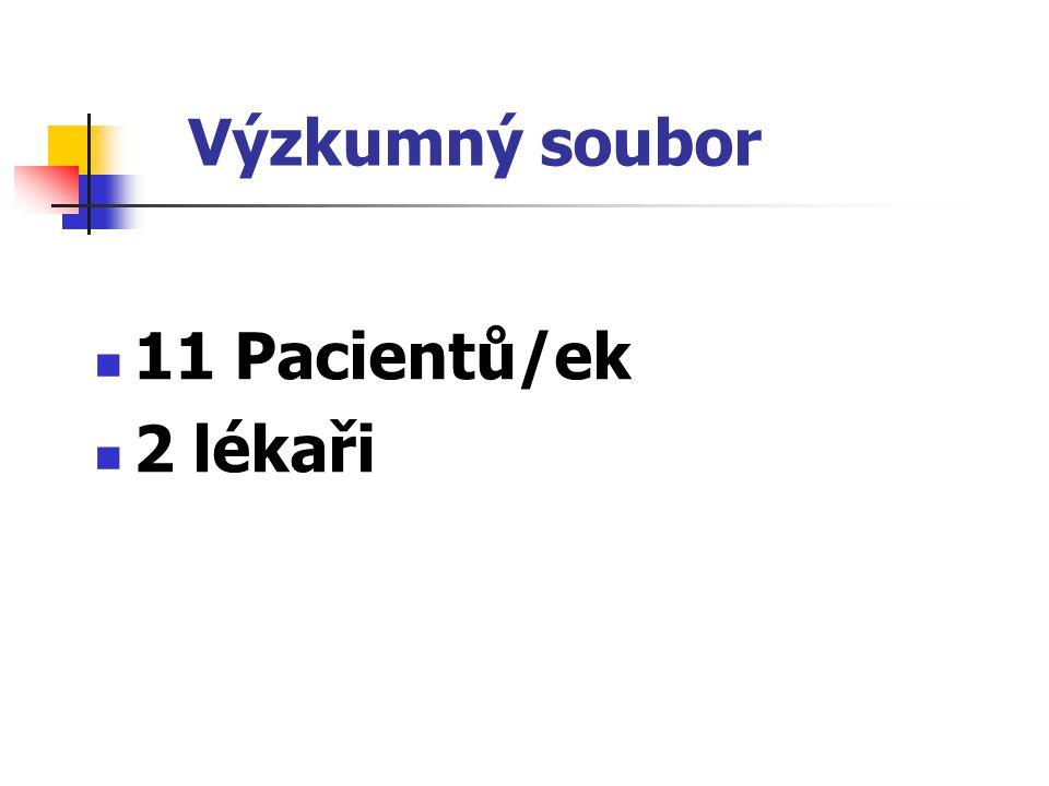 Výzkumný soubor 11 Pacientů/ek 2 lékaři