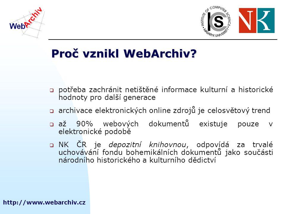 http://www.webarchiv.cz Jak vznikl WebArchiv.