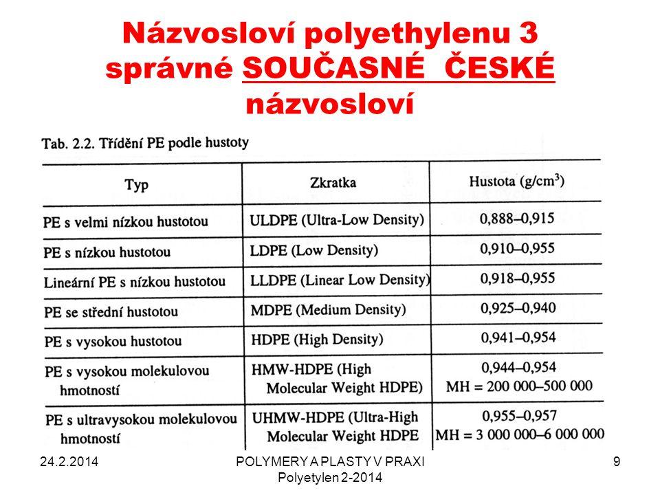 POLYMERY A PLASTY V PRAXI Polyetylen 2-2014 50 ČSN EN ISO 8295 – Stanovení koeficientu tření (statický, dynamický) dr.