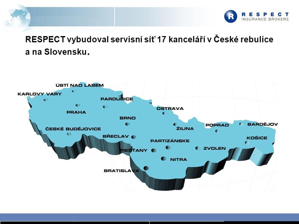 RESPECT vybudoval servisní síť 17 kanceláří v České rebulice a na Slovensku.