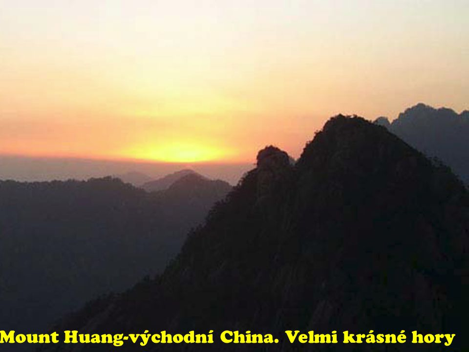 Mount Huang-východní China. Velmi krásné hory