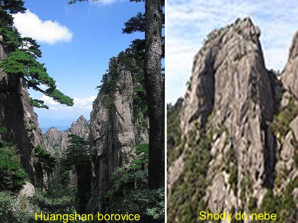 Mount Huang skalní sráz