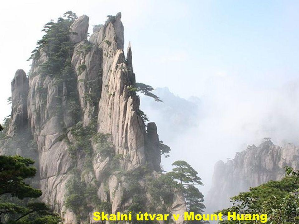 Mraky v Mount Huang