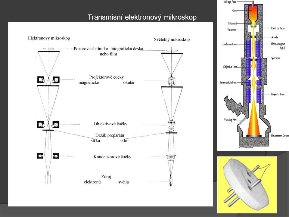 Transmisní elektronový mikroskop Transmisní elektronový mikroskop je možné popsat jako složité technické zařízení, které umožňuje pozorování preparátů