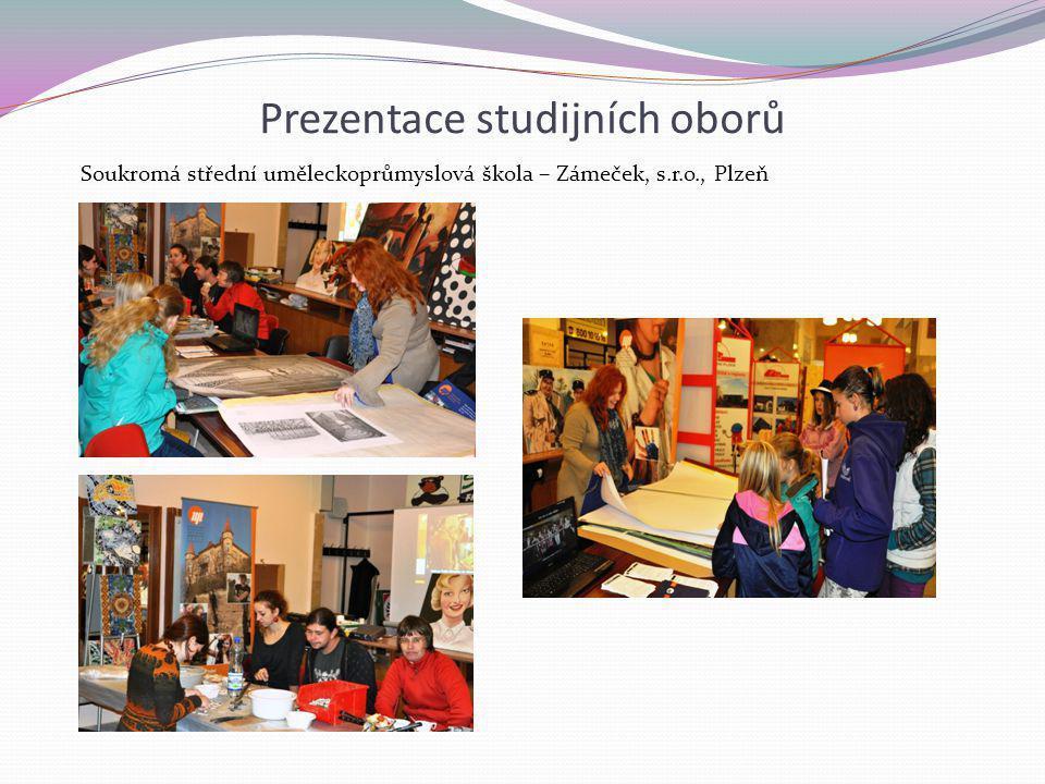 Prezentace studijních oborů Soukromá střední uměleckoprůmyslová škola – Zámeček, s.r.o., Plzeň