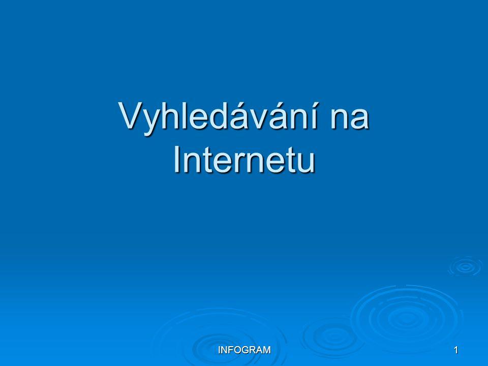 INFOGRAM1 Vyhledávání na Internetu