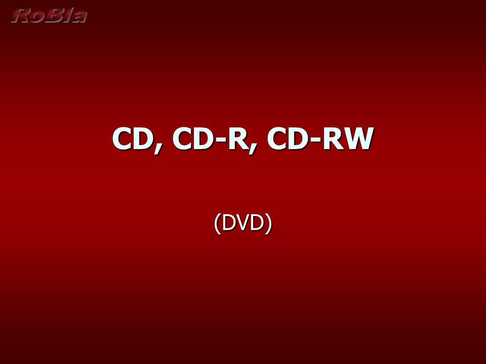 Lisované CD – kompaktní disk, kotouč o průměru 120 mm Zápis pomocí pitů (jamek) - šířka pitu 0,5 mikronu - šířka pitu 0,5 mikronu - délka 0,83-3 mikrony - délka 0,83-3 mikrony - hloubka 0,15 mikronu - hloubka 0,15 mikronu - odstup spirálové stopy 1,6 mikronu - odstup spirálové stopy 1,6 mikronu