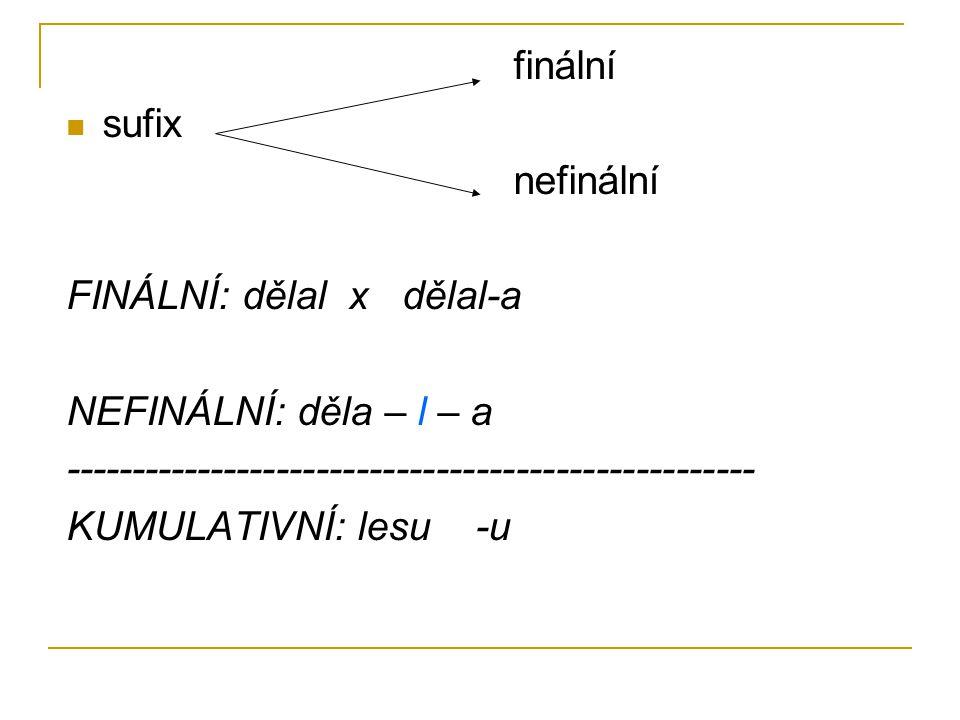 """c) interfixy """"mezi 2 kořeny X Erhart: vokalický element vkládaný do kořene (= TRANSFIX) č.: vědeckotechnický r.: krasn – o – bel(yj)"""