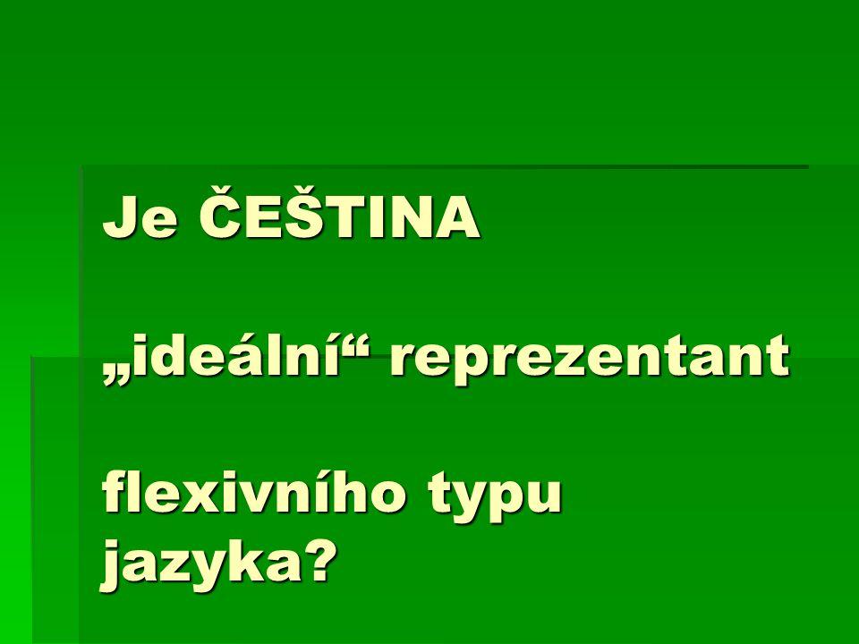 """Je ČEŠTINA """"ideální"""" reprezentant flexivního typu jazyka?"""