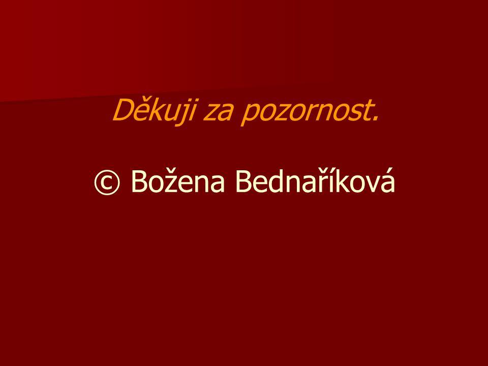Děkuji za pozornost. © Božena Bednaříková