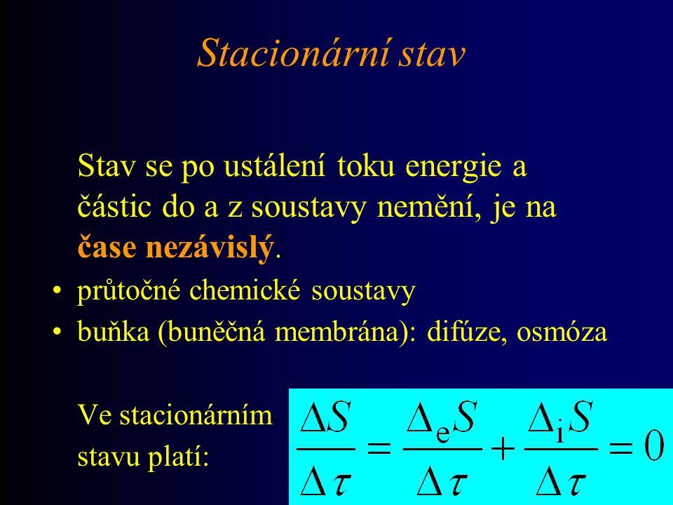 Příklad - pokračování Dosadíme-li z Ohmova zákona za musí koeficient splňovat rovnici: Mezi termodynamickou silou a tokem tedy platí lineární vztah