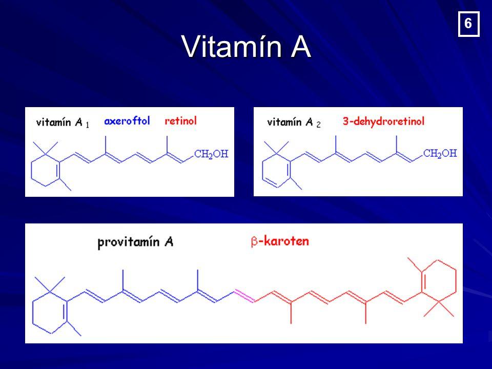 Vitamín D Doporučená denní dávka: - děti, těhotné ženy a starší lidé: 10 µg - děti, těhotné ženy a starší lidé: 10 µg - dospělí: 5–10 µg - dospělí: 5–10 µg - neměla by překročit pětinásobek udané - neměla by překročit pětinásobek udané hodnoty hodnoty 17