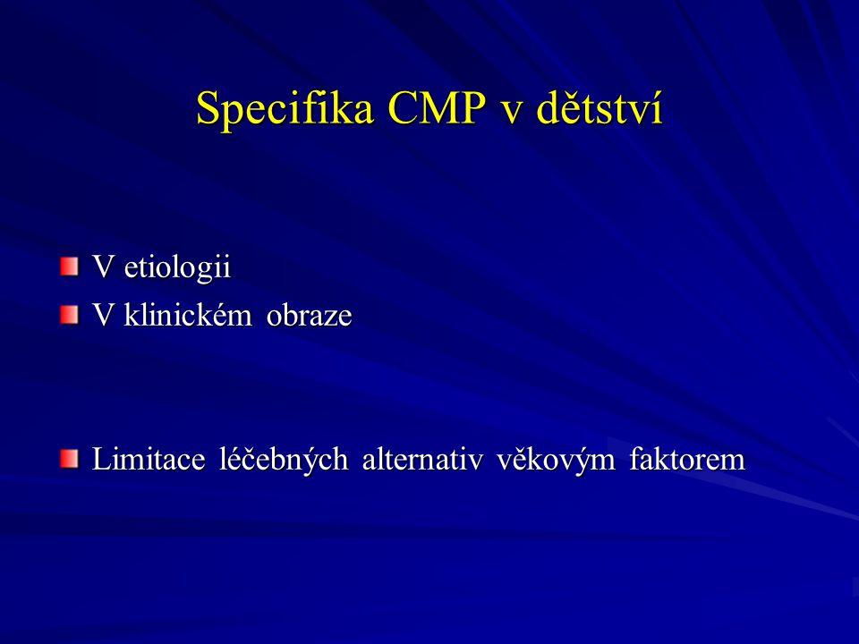Diagnostika Široké možnosti Individuální variabilita ( dle klinického vývoje) Preference neinvazivních metod ( bez CA) s monitorací dynamiky