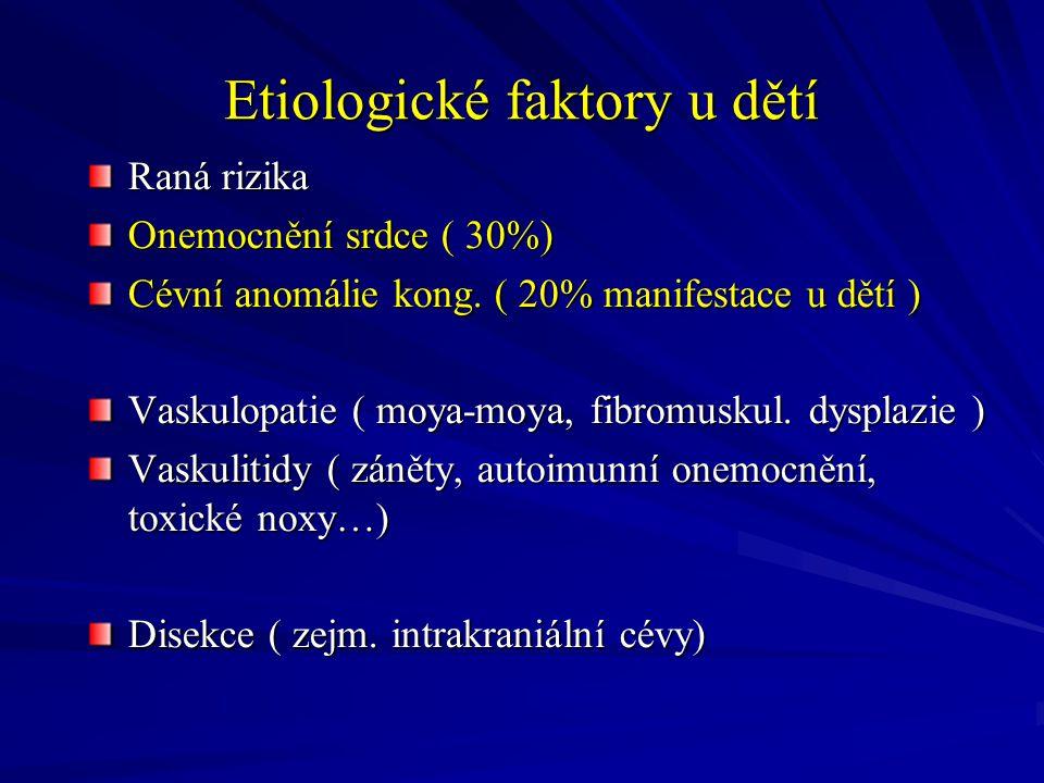 Kazuistika ( 16,5 letý hoch D.V.) 11.6.07 akutní hemiplegie, fatická porucha CT neg., AG disekce ACM l.