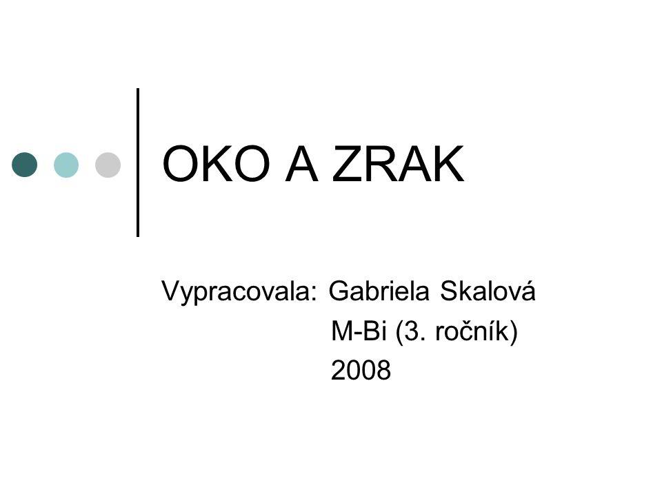 OKO A ZRAK Vypracovala: Gabriela Skalová M-Bi (3. ročník) 2008
