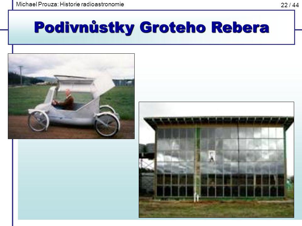 Michael Prouza: Historie radioastronomie 22 / 44 Podivnůstky Groteho Rebera