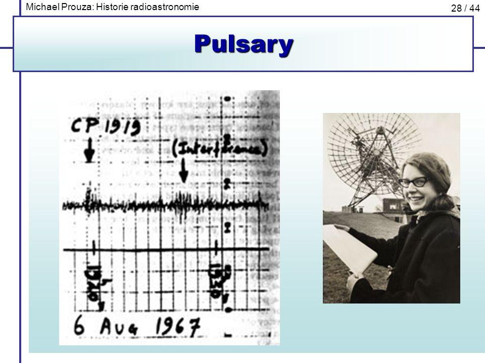 Michael Prouza: Historie radioastronomie 28 / 44Pulsary