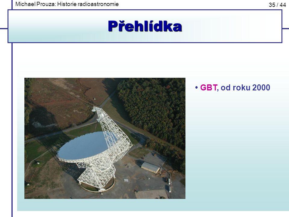 Michael Prouza: Historie radioastronomie 35 / 44Přehlídka GBT, od roku 2000