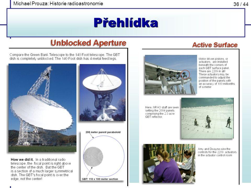 Michael Prouza: Historie radioastronomie 36 / 44Přehlídka