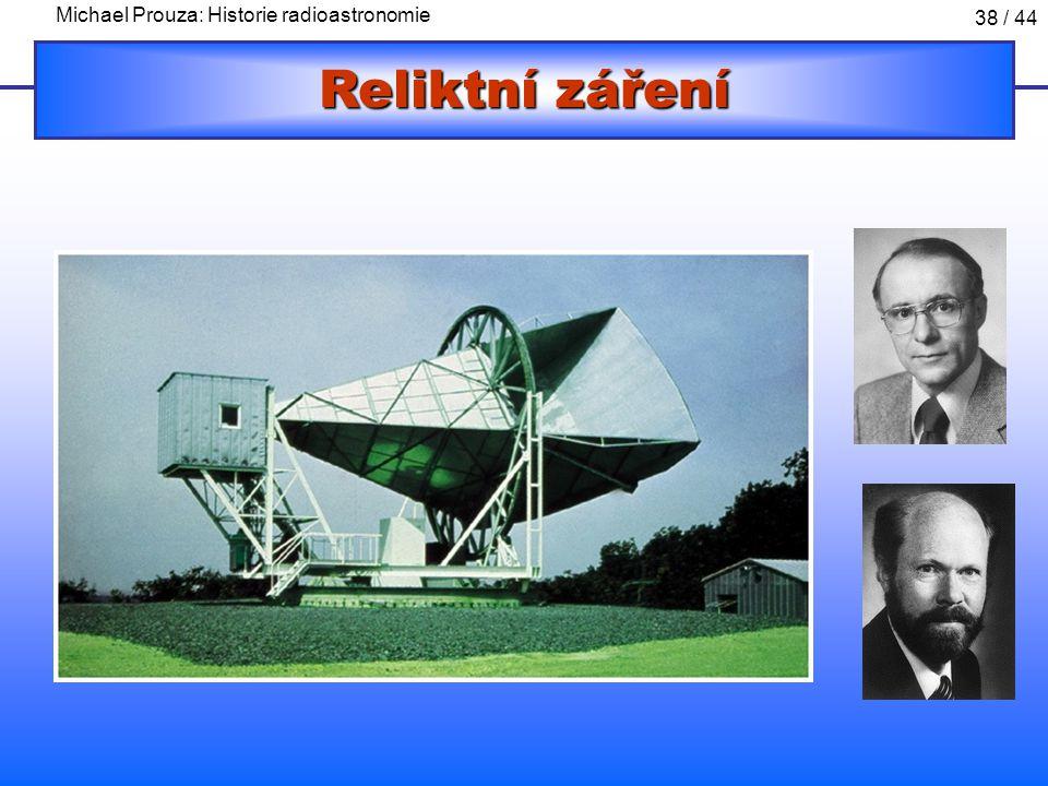 Michael Prouza: Historie radioastronomie 38 / 44 Reliktní záření