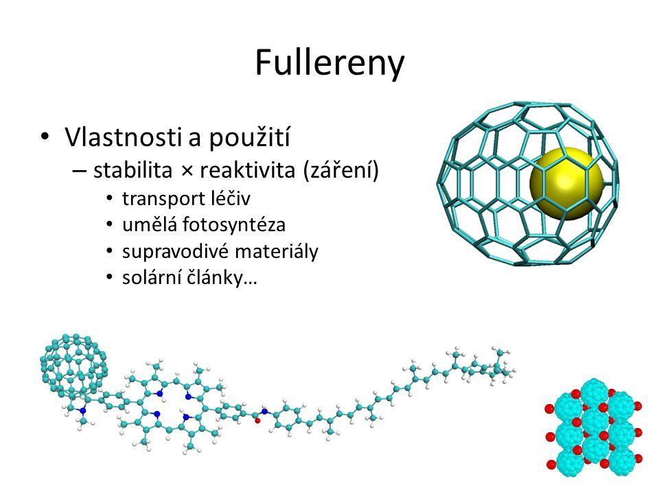 """Fullereny Vlastnosti a použití – antioxidanty a """"lapače volných radikálů"""