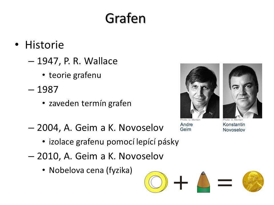 Grafen Grafen = forma uhlíku, jejíž struktura se skládá z jedné vrstvy atomů uhlíků uspořádaných v šestiúhelníkové mřížce