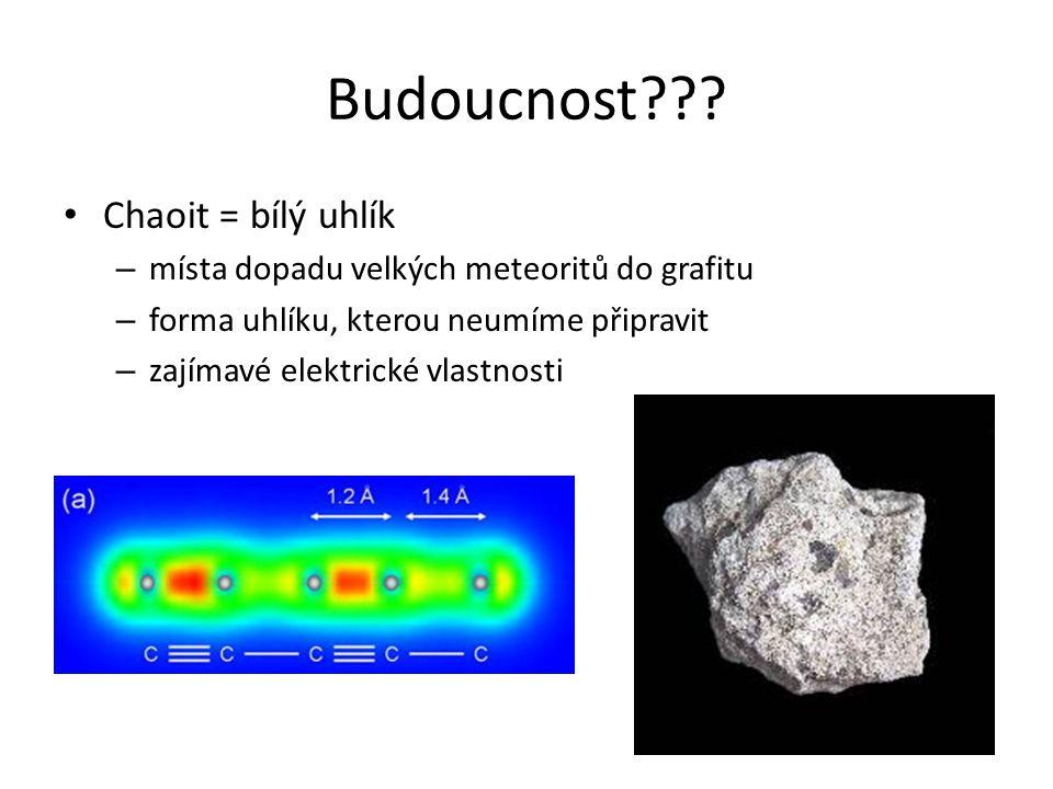 Budoucnost??? bct-uhlík (2010) T-uhlík (2011) M-uhlík ??? krychlový uhlík (2008?)