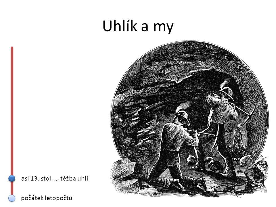Uhlík a my asi 13. stol. … těžba uhlí 16. stol. … grafitové tužky počátek letopočtu