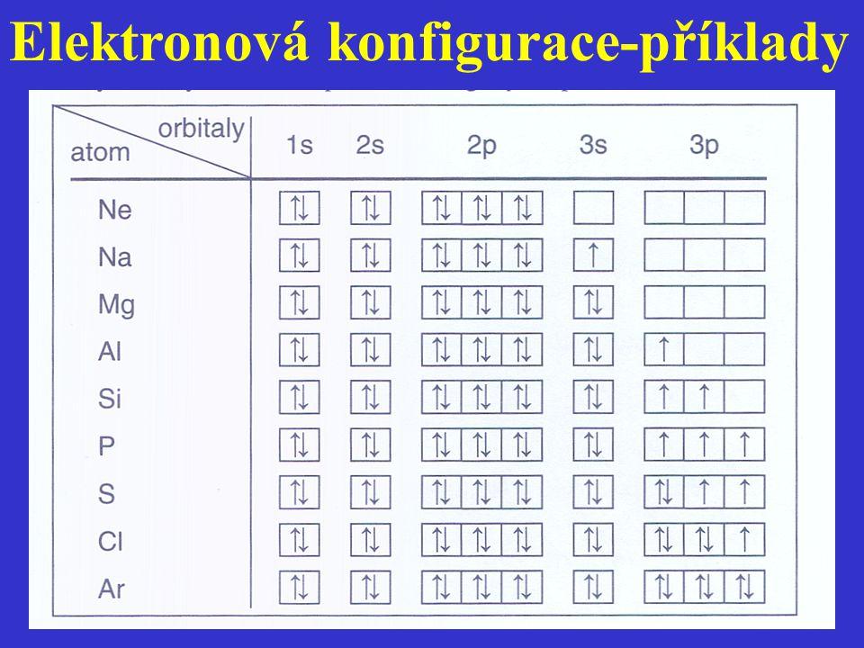 Elektronová konfigurace-příklady