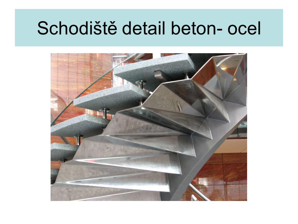 Schodiště detail beton- ocel