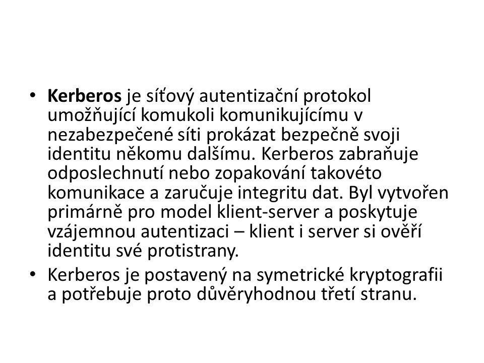 Kerberos je síťový autentizační protokol umožňující komukoli komunikujícímu v nezabezpečené síti prokázat bezpečně svoji identitu někomu dalšímu.