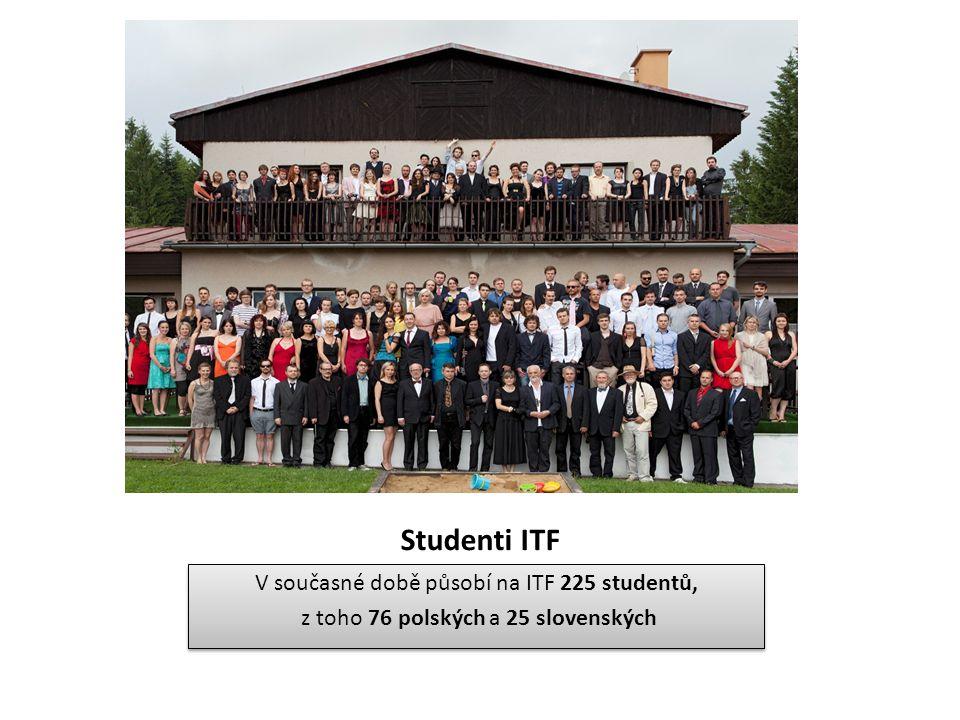Studenti ITF V současné době působí na ITF 225 studentů, z toho 76 polských a 25 slovenských V současné době působí na ITF 225 studentů, z toho 76 pol