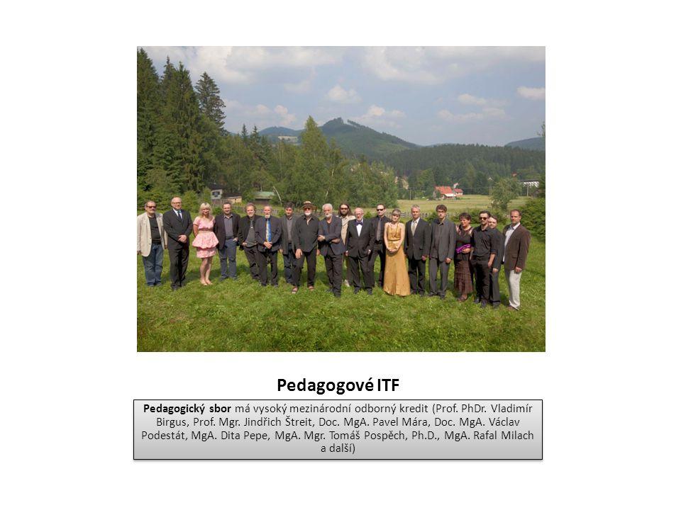 Pedagogové ITF Pedagogický sbor má vysoký mezinárodní odborný kredit (Prof. PhDr. Vladimír Birgus, Prof. Mgr. Jindřich Štreit, Doc. MgA. Pavel Mára, D