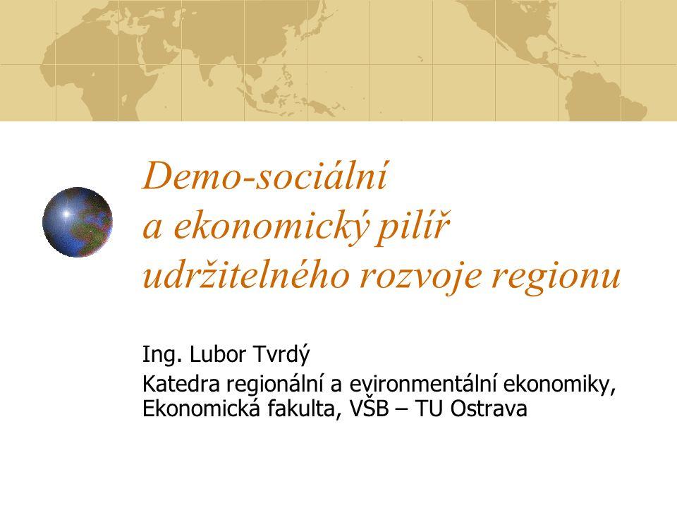 Demo-sociální a ekonomický pilíř udržitelného rozvoje regionu Ing.