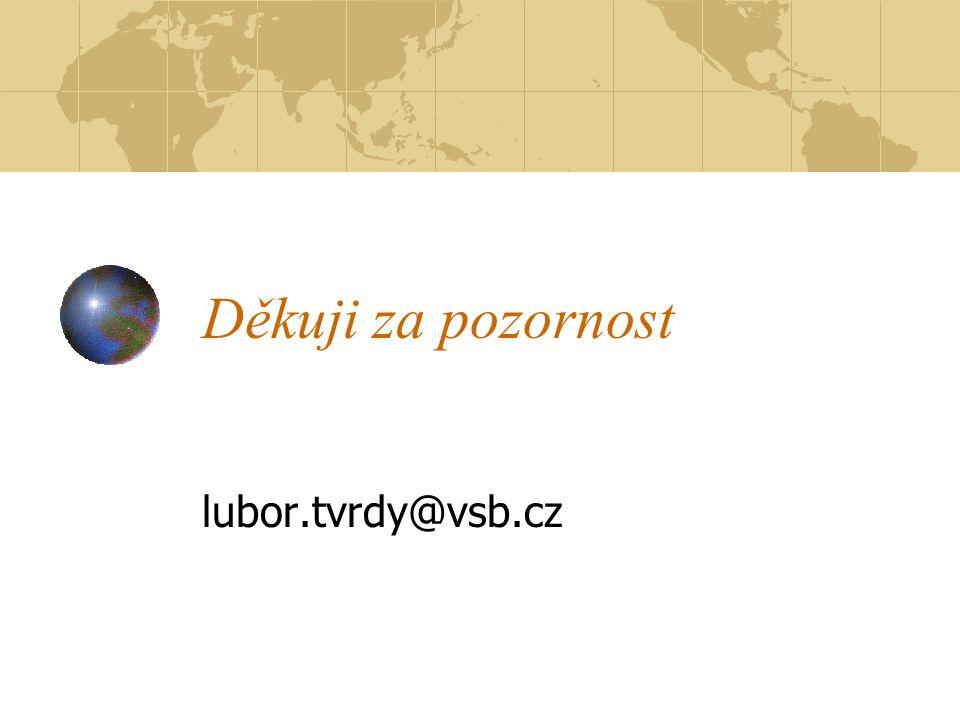 Děkuji za pozornost lubor.tvrdy@vsb.cz