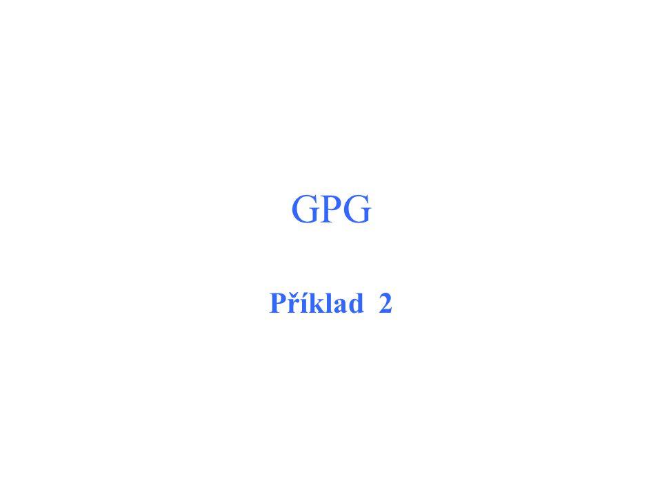 GPG Příklad 2