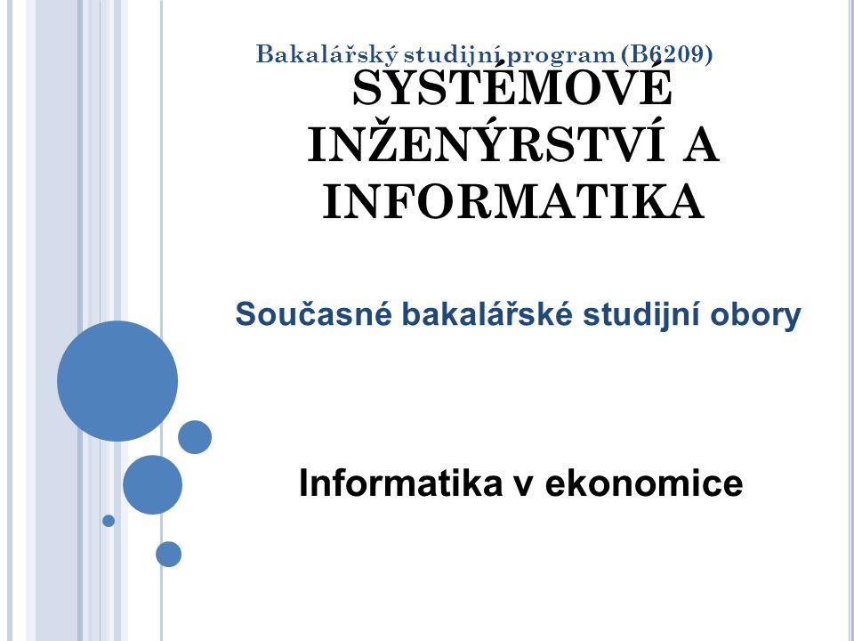STUDIJNÍ OBOR SYSTÉMOVÉ INŽENÝRSTVÍ A INFORMATIKA Nejstarší obor na VŠB-TUO ( od roku 1967) a na Ekonomické fakultě – od roku 1977) Vznikl u nás jako první v Československu Význační absolventi Uplatnění absolventů Vysoké příjmy absolventů Spokojenost se zaměstnáním po absolvování studia